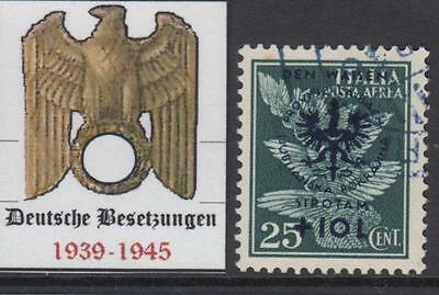 GERMANY REICH - 1944 occup (DT Besetzung) LUBIANA-LAIBACH Mi 33 cv 620$ used