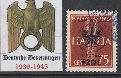 GERMANY REICH - 1944 occup (DT Besetzung) LUBIANA-LAIBACH Mi 35 cv 620$ used