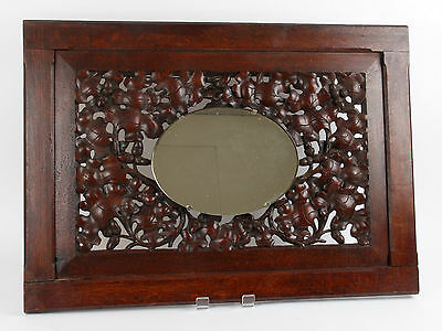 Cotswold School Oak Carved Mirror Arts and Crafts Arthur Simpson