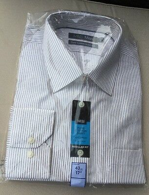 """BNIP Marks And spencer SHIRT Pure Cotton 17"""" 43cm Collar Quick Iron M&S BNWT"""