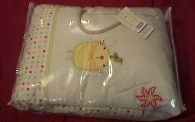 Mamas and Papas Windmill Cot Bed Quilt & Bumper Set Embroidered Unisex Bedding