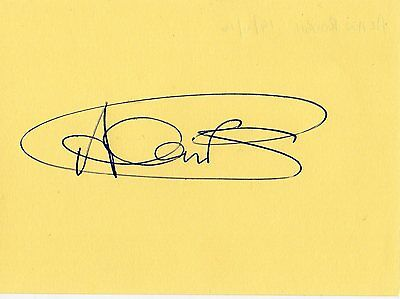Hibs/Celtic/Partick Thistle Allan Rough HAND SIGNED page