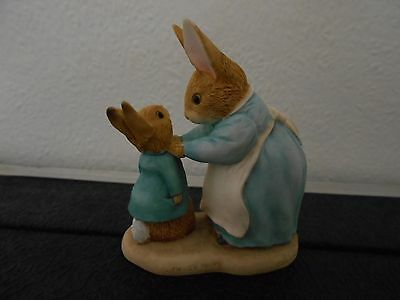 FW & Co 1996 figurine of Mrs Rabbit and Peter 271780 World of Beatrix Potter