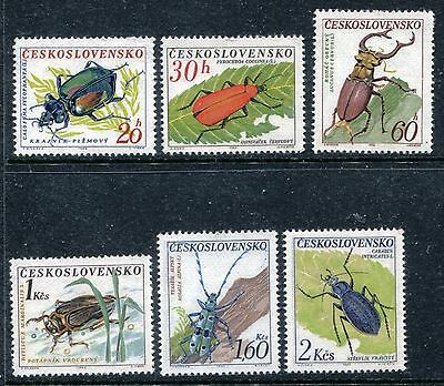 Czechoslovakia 1144-1149, MNH, Insects Beetles 1962. x24074