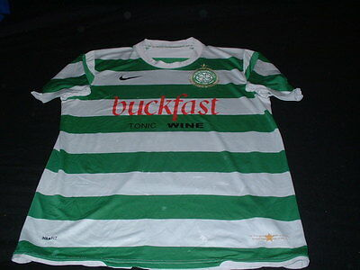 Celtic Scotland Football Large Mans Buckfast Wine Sponsored Home Jersey