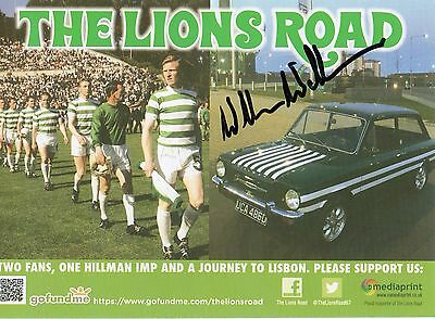 Celtic/Hearts Willie Wallace autographed card