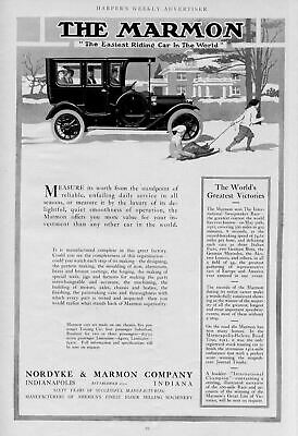 The Marmon Automobile Easiest Riding Car In The World Nordyke & Marmon Company