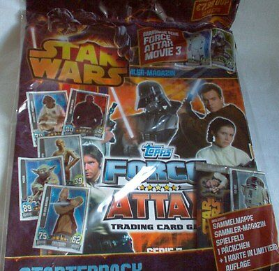 Star Wars Force Attax Movie 3 Sammelmappe Starter,incl.1 Booster+l.Karte OVP,Neu