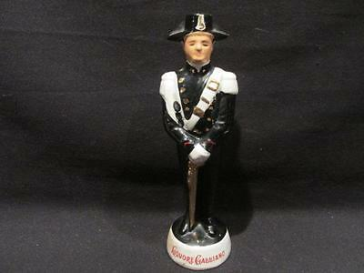Coronetti Liquore Galliano Vintage Ruiniti Empty Decanter Soldier Missing Plume