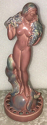 NUDE FEMALE STATUE ART-NOUVEAU 1930s CERAMIC GODDESS FIGURINE MYTHOLOGY GORGEOUS