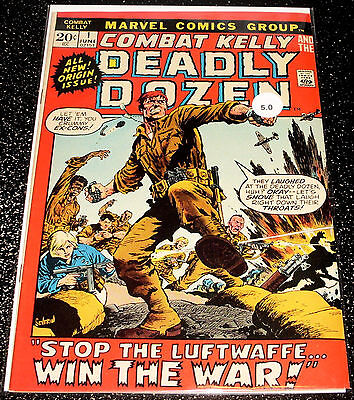 Combat Kelly Deadly Dozen 1 (5.0) Marvel Comics