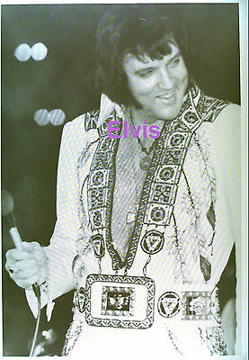 Elvis Presley In Indian Suit At Concert Sean Shaver Fan Club 5X7 Photo Candid