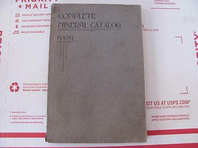 rare Complete Mineral Catalog  by Foote 1901 1st edition