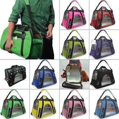 Pet Carrier Soft Sided Small Cat / Dog Comfort Travel Bag Airline Approved S / M