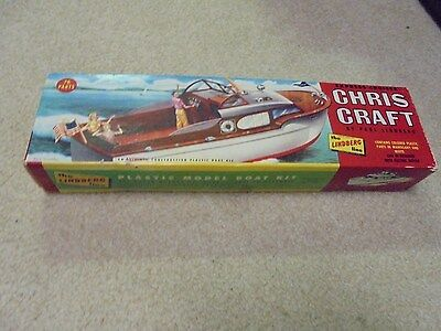 Vintage Lindberg Model Express Cruiser Chris Craft Box