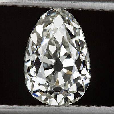 1.31c ANTIQUE PEAR DIAMOND G SI1 CERTIFIED OLD MINE CUT VINTAGE 1ct OVAL VINTAGE