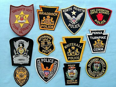 Lot of 12 Police Patches
