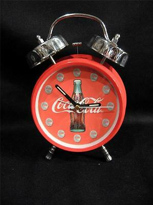 Coca Cola Bright Red Twin Bells Alarm Clock