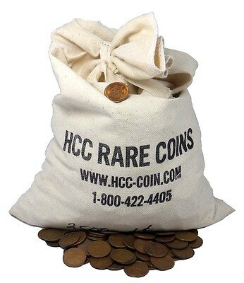 Unsearched Lincoln Wheat Cent 1/2 Bag - 2,500 Coins - 1C