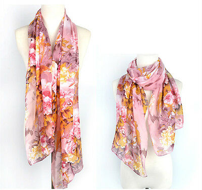 New Women's Fashion  Multi-Color Soft chiffion Wrap Shawl Stole Scarf