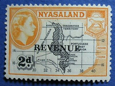 1953 2d NYASALAND REVENUE BAREFOOT # 8 UNUSED CS10523