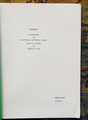 1984 DRAFT SCREENPLAY of SCREAMERS by DAN O'BANNON from PHILIP K. DICK Story