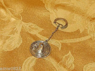 Vintage Hand Crafted 925 Sterling Silver Sombrero Keychain Ornate Mexican Hat