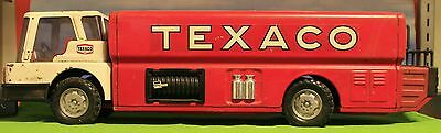 """Magic Triangle Toys **rare** Metal Texaco Tanker Toy """"complete"""" Approx 22"""" Long"""