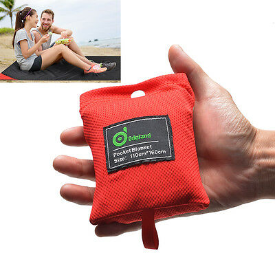 Mini Pocket Size water resistant Picnic Blanket Camping 44x63 inches Lightweight