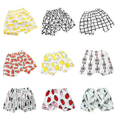 Summer Seaside Toddler Kids Newborn Baby Girl Boy Print Baby Casual Shorts Pants