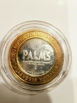 PALMS Las Vegas $10token silver & gold - Sports Deluxe Lounge