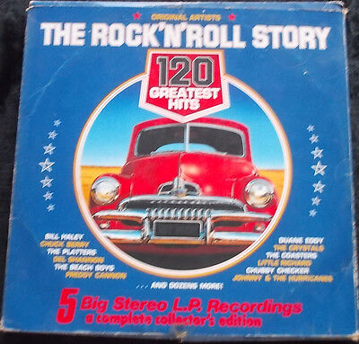 VARIOUS ARTISTS: The Rock 'N' Roll Story 5 LP Box Set