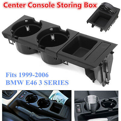 Center Console Drink Cup Tray Holder Coin Storage BOX For BMW E46 3 SERIES 99-06