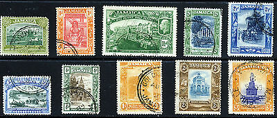 JAMAICA King George V 1921-29 Postage & Revenue Set to 3/-  SG 94 to SG 104 VFU