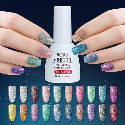 Platinum Starry UV Gel Soak Off Manicure UV Nail Lamp Polish 10ml BORN PRETTY