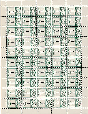 Norway NSB Railway Parcel Stamps Folded Sheet 1 Øre