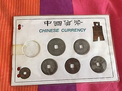 Set Coin China Chinese Monete Currency