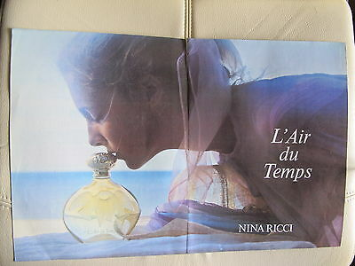 Nina Ricci,l'air Du Temps Perfume Print Ads,clippings 1987