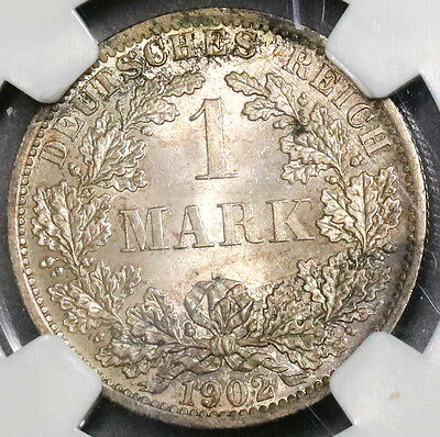 1902-A NGC MS 63 GERMANY BU Silver 1 Mark KAISER REICH Coin (16101801C)