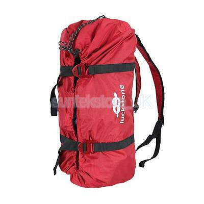 Portable Folding Climbing Rope Carry Bag Backpack Rappel Belay Gear Holder