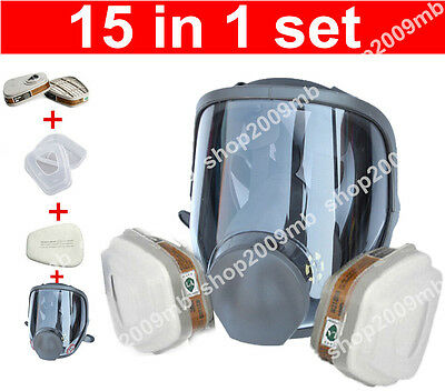 15 in 1 Set For 3M 6800 Full Facepiece Reusable Respirator full face Gas Mask