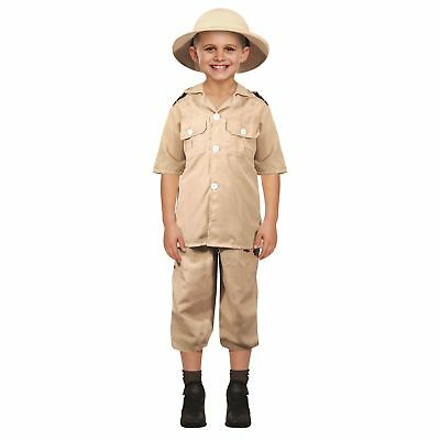 SAFARI EXPLORER STEVE IRWIN DRESS UP OUTFIT 4-12 boys childs fancy dress costume