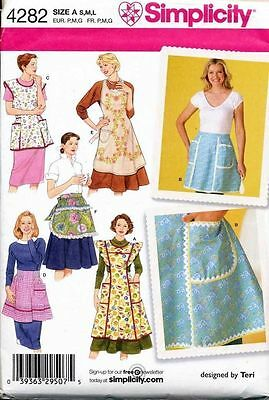 Simplicity Sewing Pattern 4282 Misses 10-20 Vintage/retro Style Full/half Aprons