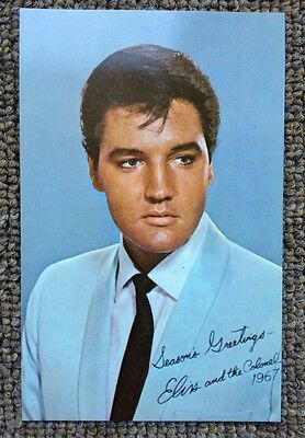 Elvis Presley ORIGINAL 1967 USA promo Christmas greetings card. Rare