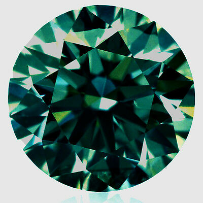 5.47 ct VVS1/11.77 MM BLUEISH GREEN LOOSE ROUND REAL MOISSANITE for ring