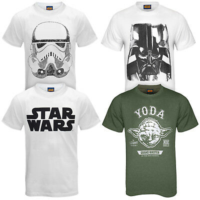 Star Wars - Herren T-Shirt - Darth Vader/Yoda/Kylo Ren - Offizielles Merchandise