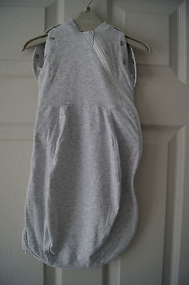 Grobag Autentic Lightweight Grey Sleeping Bag Swaddle 2in1 size 0-3mth