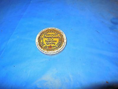 "Vintage Original Pennzoil ""100% Pure Pennylvania Oil"" Glass Oil Jar Metal Lid!!!"