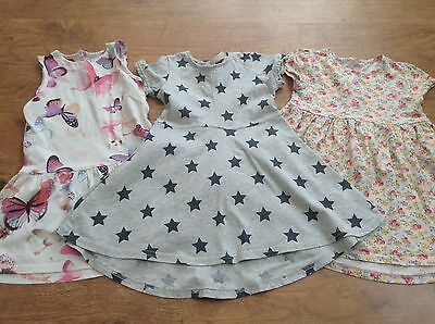 M+S Next Girls Small Summer Bundle Of Dresses 2-3Yrs
