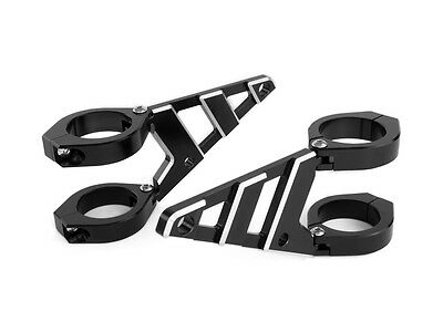 Motorbike Headlight Brackets CNC Aluminium 50 - 51mm HIGH QUALITY